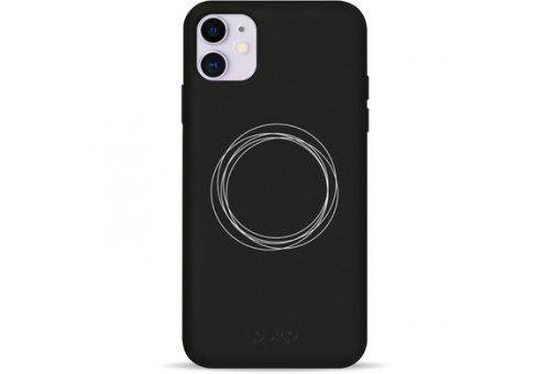 Чехол Pump Silicone Minimalistic Case for iPhone 11 Circles on Dark