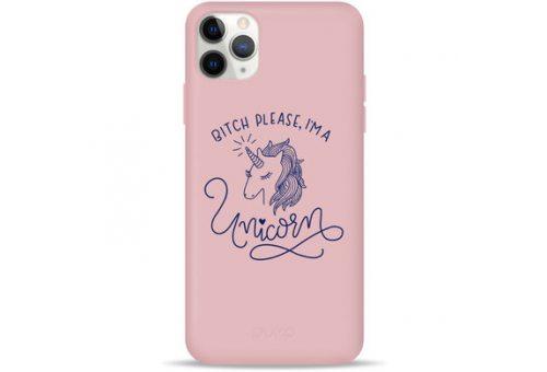 Чехол Pump Silicone Minimalistic Case for iPhone 11 Pro Max Unicorn Girl