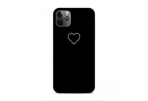 Чехол Pump Silicone Minimalistic Case for iPhone XR Black Heart
