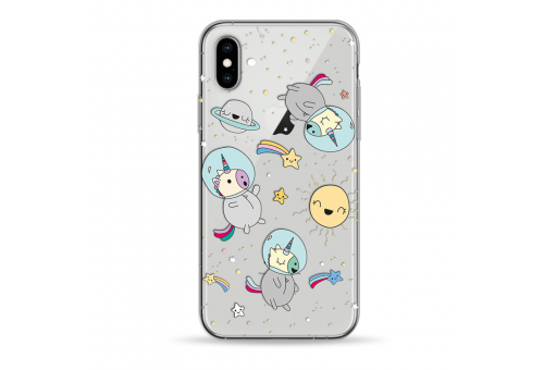 Чехол Pump Transparency Case for iPhone XS Max Space Unicorns