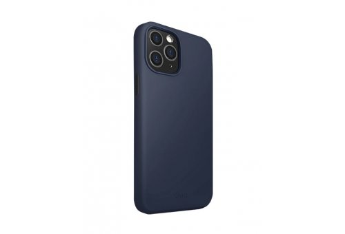 Чехол Uniq для iPhone 12/12 Pro (6.1) LINO Anti-microbial Blue
