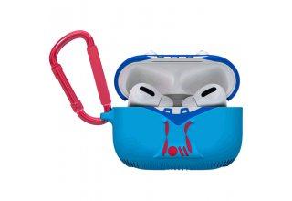 Чехол Case-Mate AirPods PRO - CreaturePods. Дизайн Tricky Trickster, цвет синий, карабин красный.