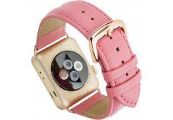 Ремешок Dbramante1928 Madrid для часов Apple Watch 38mm. Материал натуральная кожа. Цвет: розовый.