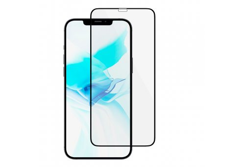 GL107BL03ANA61-I20 Стекло защитное алюмосиликат. для iPhone 12/12 Pro,Ext. Nano Antibact.,чёрн.рамка