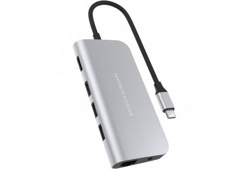 USB Хаб HyperDrive POWER 9 in 1 Hub для USB-C iPad/MacBook Pro/MacBook Air USB-C. Цвет серебряный.