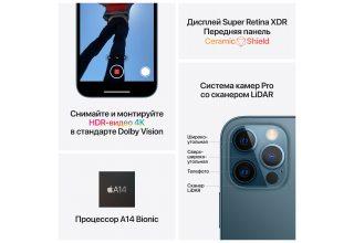 Apple iPhone 12 Pro, 512 ГБ, графитовый