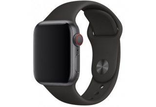 Ремешок Apple Watch 44мм, спортивный, размеры S/M и M/L, чёрный