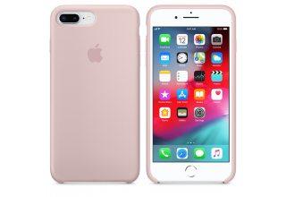Чехол Apple Silicone Case для iPhone 8/7 Plus «розовый песок»