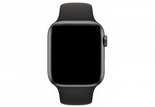 Ремешок Apple Watch 44мм, спортивный, размеры M/L и L/XL, чёрный