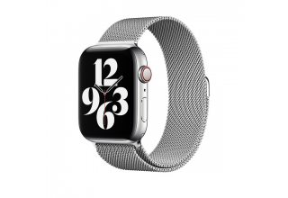 Браслет Apple Watch 44мм, миланский сетчатый, серебристый