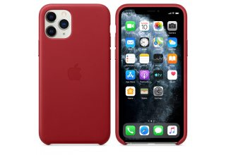 Чехол Apple iPhone 11 Pro Max Leather Case - (PRODUCT)RED