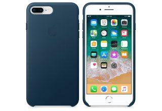 Чехол Apple iPhone 8 Plus / 7 Plus Leather Case - Cosmos Blue