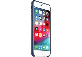 Чехол Apple Leather Case для iPhone 8/7 Plus тёмно-синий