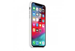 Чехол Apple Silicone Case для iPhone XS, белый