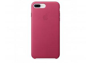 Кожаный чехол для iPhone 8 Plus/7 Plus, цвет Pink Fuchsia