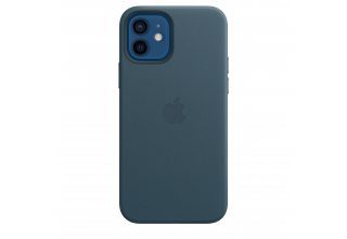 Чехол Apple iPhone 12   12 Pro Leather Case with MagSafe - Baltic Blue