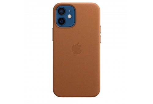 Чехол Apple iPhone 12 mini Leather Case with MagSafe - Saddle Brown