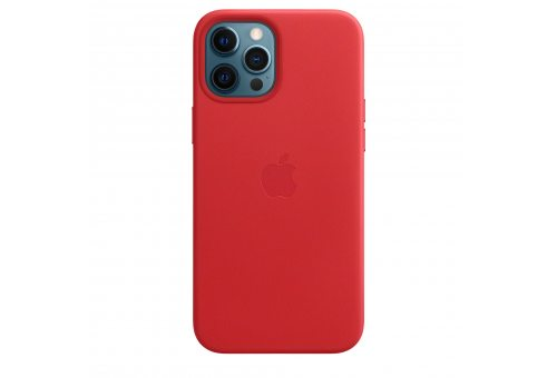 Чехол Apple iPhone 12 Pro Max Leather Case with MagSafe - (PRODUCT)RED