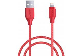 Кабель Aukey MFi Lightning 8 pin Sync and Charging Cable,L=2M*1 красный LLTS148184