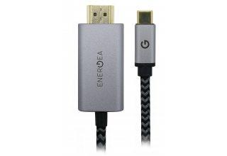 Кабель EnergEA FibraTough HDMI to HDMI 4K Black 2.0m