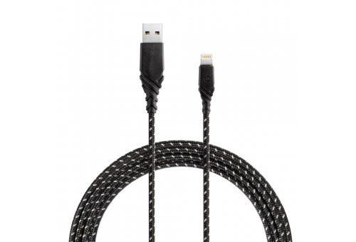 Кабель EnergEA FibraTough USB-C - Lightning MFI Black 3.0m