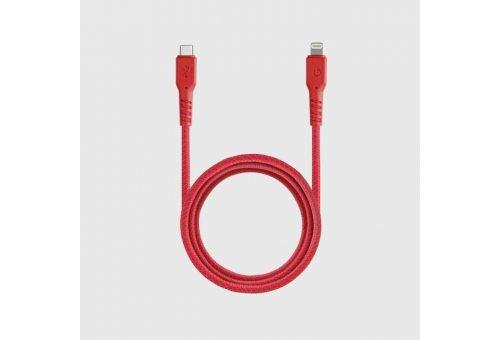 Кабель EnergEA FibraTough USB-C - Lightning MFI Red 1.5m
