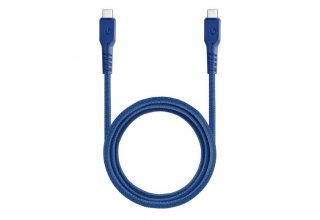 Кабель EnergEA FibraTough USB-C to USB-C 3.1 Gen1 5Gbps 5A Blue 1.5m