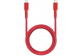 Кабель EnergEA FibraTough USB-C to USB-C 3.1 Gen1 5Gbps 5A Red 1.5m