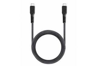 Кабель EnergEA FibraTough USB-C - USB-C 5Gbps 5A Black 1.5m
