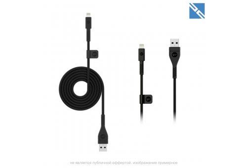 Кабель Mophie USB-A to Lightning. Длина 3м. Цвет черный.