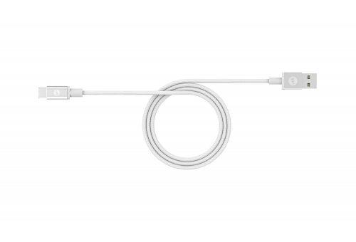 Кабель Mophie USB-A to USB-C. Длина 1м. Цвет белый.