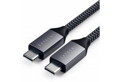 Кабель Satechi Type-C Cable. Длина кабеля: 25 см. Цвет: серый космос.