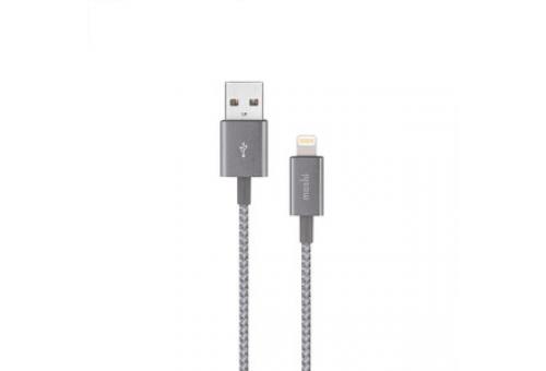 Кабель XtremeMac Premium Lightning to USB. Оплетка из нейлона. Длина 1,2м. Цвет серый космос.