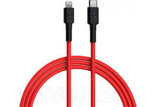 Кабель ZMI AL873 USB-C TO Lightning braided cable (1 m) Red