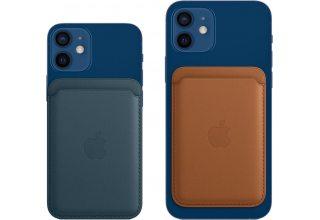 Кожаный чехол-бумажник Apple iPhone Leather Wallet with Magsafe - California Poppy Apple MHLP3ZE/A MHLP3ZE/A