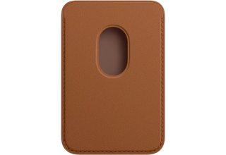 Кожаный чехол-бумажник Apple iPhone Leather Wallet with MagSafe - Saddle Brown