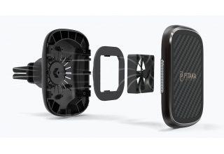 Магнитный автомобильный держатель с беспроводным з/у в дефлектор обдува Pitaka New Magmount Qi (Car Vent)