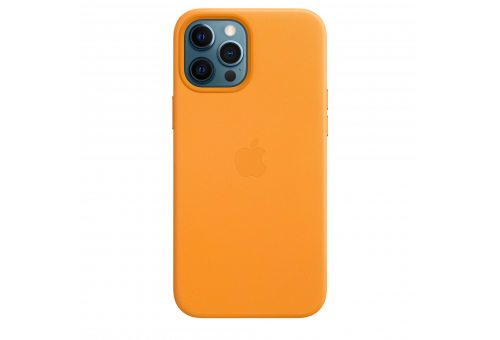 Чехол Apple iPhone 12 | 12 Pro Leather Case with MagSafe - California Poppy