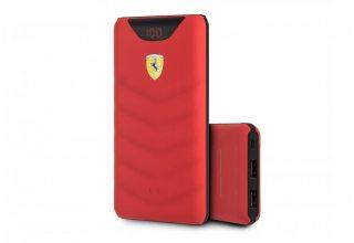 Внешний аккумулятор Ferrari Red Rubber 10 000 мАч с беспроводной зарядкой, красный