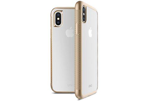Чехол Uniq Glacier Frost Xtreme для iPhone X/XS, золотой