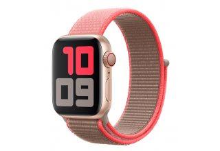 Ремень для часов Apple 40mm Neon Pink Sport Loop