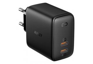 Сетевое зарядное устройство AUKEY Dual-Port 65W PD Wall Charger with GaN Power Tecgh PA-B4