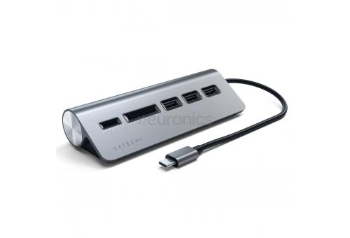 USB-концентратор Satechi Type-C USB Hub & Micro/SD Card Reader. Интерфейс USB-C. 3 порта USB 3.0 , с