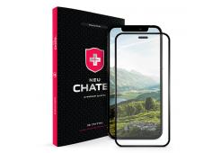 Стекло +NEU Chatel Full 2.5D SNB Crystal с сеткой для iPhone 12/12 Pro, Black