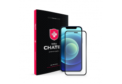 Стекло +NEU Chatel Full 2.5D SNB Crystal с сеткой для iPhone 12 mini, Black