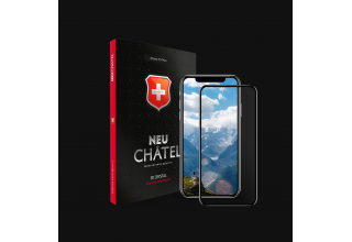 Стекло +NEU Chatel Full 3D Crystal for iPhone XS Max Front Black