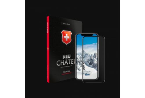 Стекло +NEU Chatel Full 3D Crystal с сеткой for iPhone X/XS Front Black