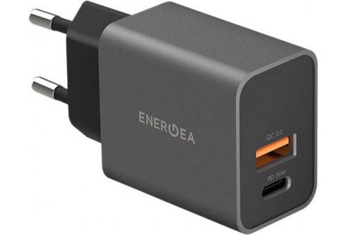 СЗУ EnergEA Ampcharge PD20+, USB-C PD20 +USB-A QC3.0 20W Gunmetal