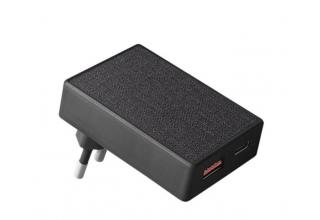 Uniq СЗУ Votre Slim Duo PD20+, USB-C PD20 +USB-A QC3.0 20W Black