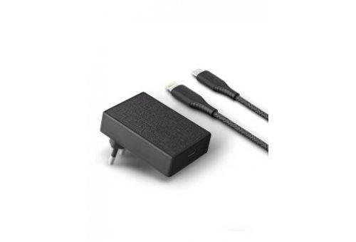 Uniq СЗУ Votre USB-C PD 18W +кабель USB-C-Lightning MFI Black